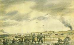 Painting, UTAH BEACH, by Joseph Gary 