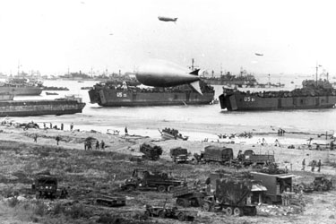 "Photo, telling the story of how the France beachhead was supplied on ""D-Day"". 6 June 1944"