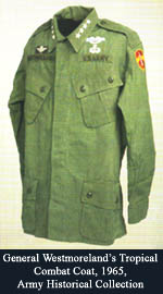 General Westmoreland's Tropical Combat Coat, 1965, Army Historical Collection