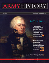 Army History, Issue 85, Fall 2012