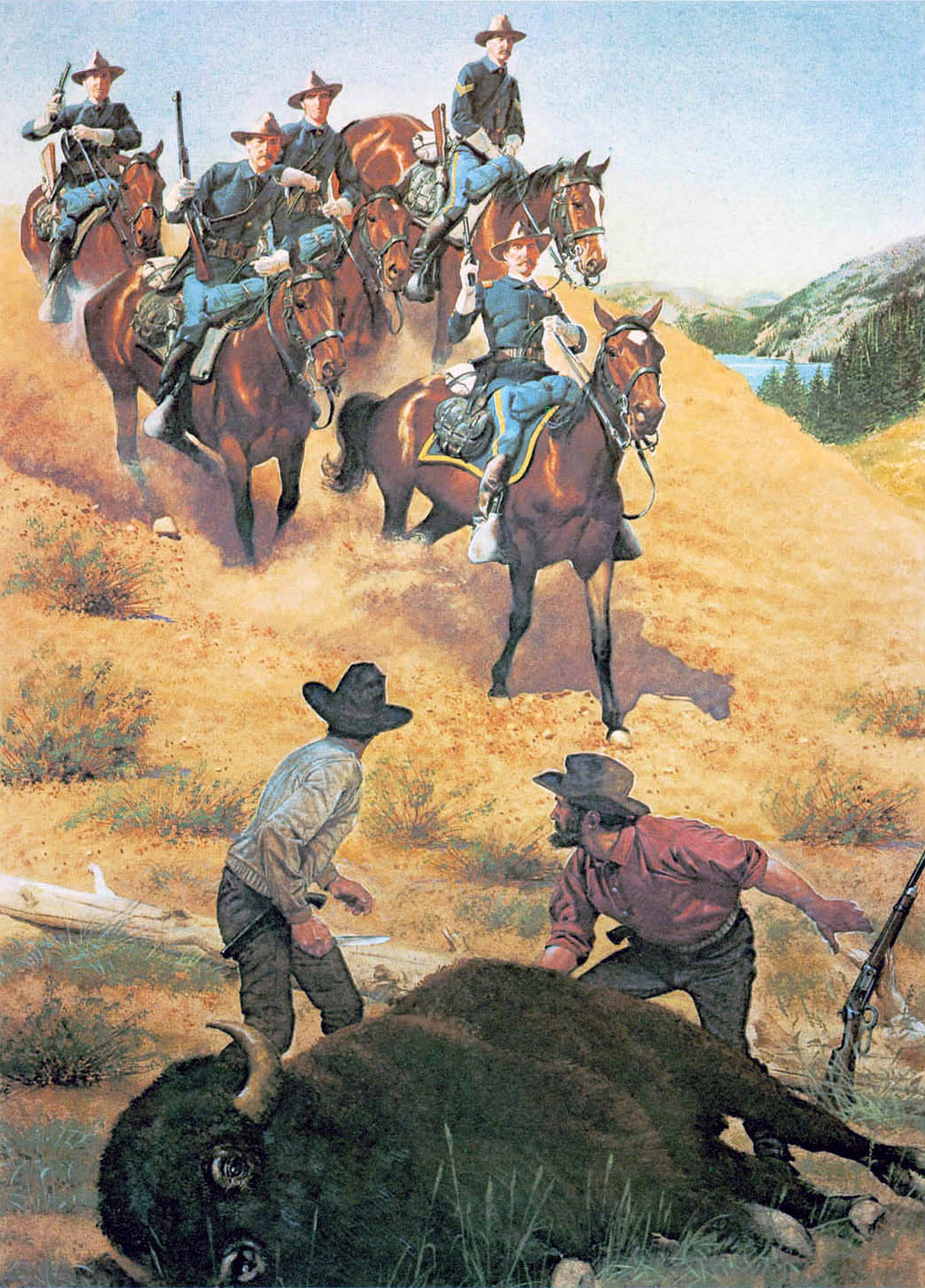 Prints And Posters The American Soldier Set 4 Center