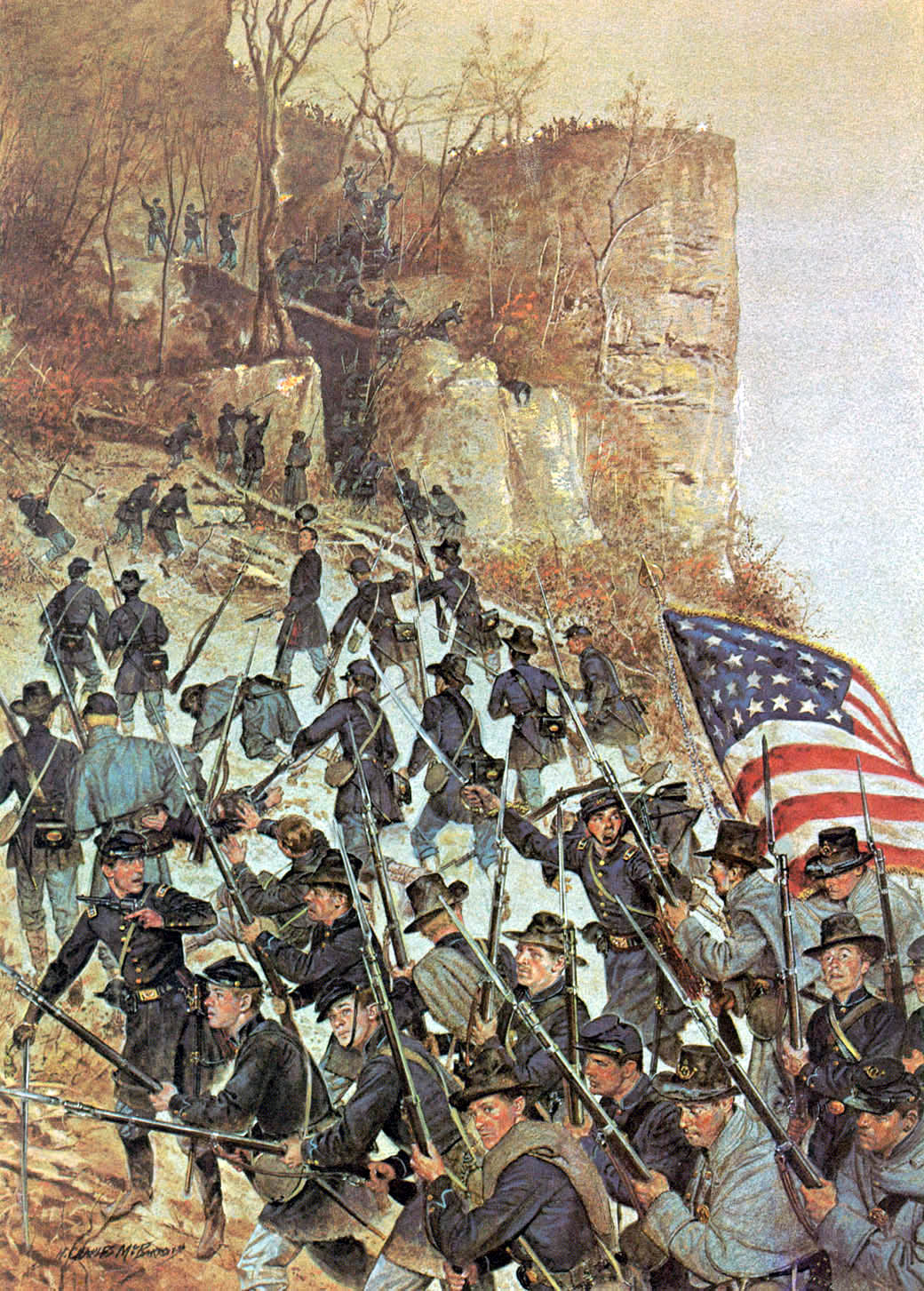 Image result for First at Vicksburg McBarron Vintage 1955 History of the United States Army Print