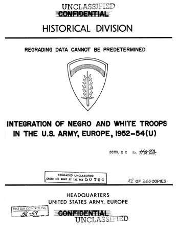 Integration of Negro and White 