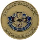 Front, 28th Combat Support Hospital Unit Coin