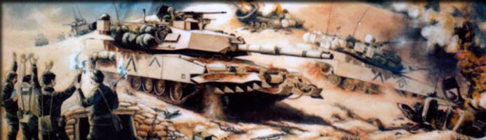 "Partial image of the artwork ""Desert Storm"" by Frank Thomas"