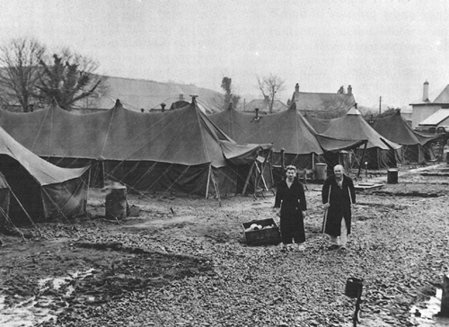Photo:  Expeditionary hospital at Carmarthen