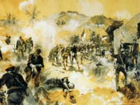 Charge of the First and Tenth Cavalry - Click on Image to View Full Size 