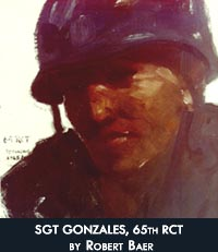SGT Gonzalez, 65th RCT, by Robert 