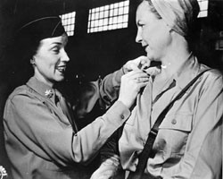 LT Rosemary Hogan gets new bars from 
