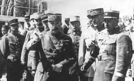 General Naulin (center), shown here in Casablanca with unidentified French officers in 1925