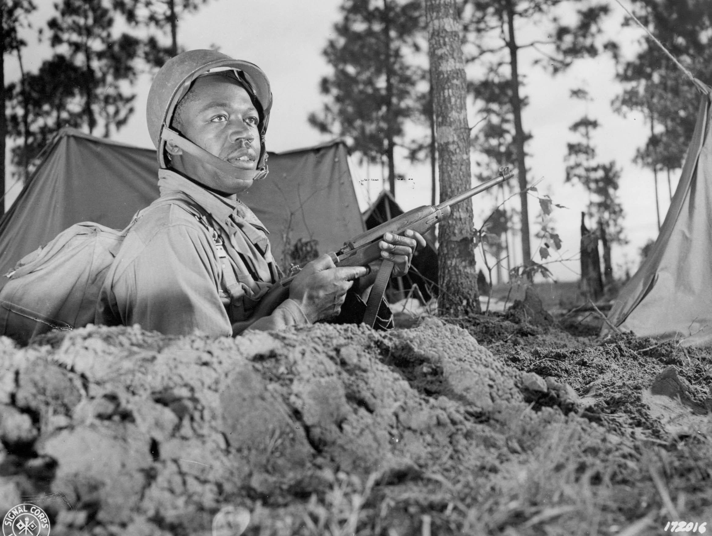 Wwii African Americans On Maneuver Center Of Military